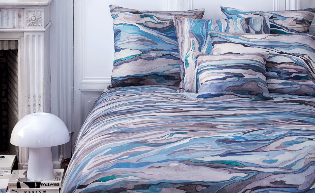 linge de lit sonia rykiel calideco. Black Bedroom Furniture Sets. Home Design Ideas