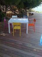 table et chaise couleur